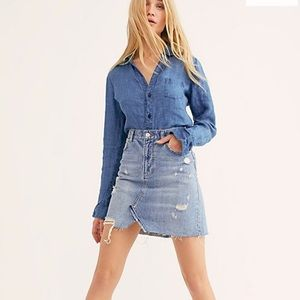 Free People NWT Denim Skirt Size 27